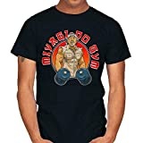Miyagi-Do Gym Master Karate Kid Fitness Muscles Cobra Kai Funny Black T-Shirt