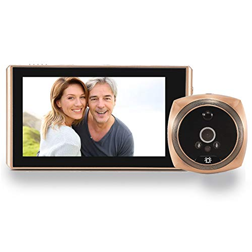 """Topvico Door Viewer Peephole Video Doorbell Camera Motion Detection 4.3"""" Monitor Digital Ring Security Voice Record 16GB Micro SD Card Include"""