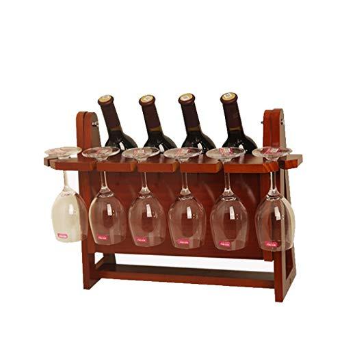 Botelleros Botellero vino Sostenedor de madera de la botella de vino Bastidores encimera vino Permanente vino estante de exhibición Estante de almacenamiento moderna Escala del soporte de vino, Hasta