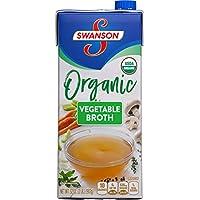12-Pack Swanson 32 oz. Resealable Carton Vegetable Organic Broth