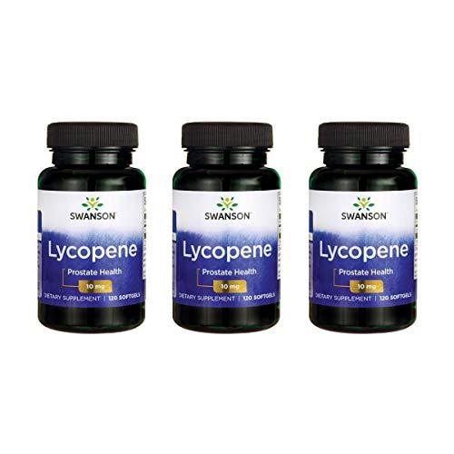 Swanson Lycopene 10 mg 120 Sgels 3 Pack