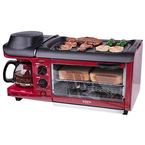 KAUTO Ofen Solo Mikrowelle in Silver Tact Premium Konvektion Halogenofen Herd Ofen Elektrische Pfanne Kaffeemaschine Multifunktion 3 In1 Leicht zu reinigen