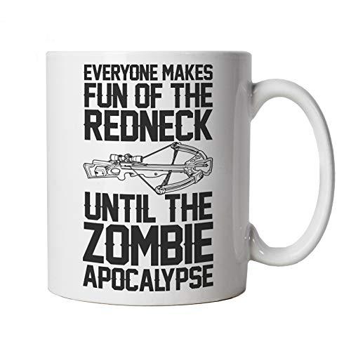 Everyone Make Fun Hasta The Zombie Apocalypse, Taza, regalo de TV y película de 10 oz, color blanco