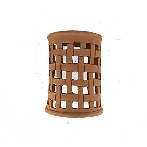 Aplique lámpara marroquí de barro natural hecha a mano