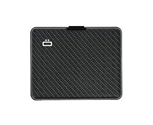 Ögon Smart Wallets -Big Stockholm Cartera Tarjetero - Protección RFID: Protege Tus Tarjetas de Robar - hasta 10 Tarjetas + Recetas + Notas - Aluminio anodizado (Carbon)