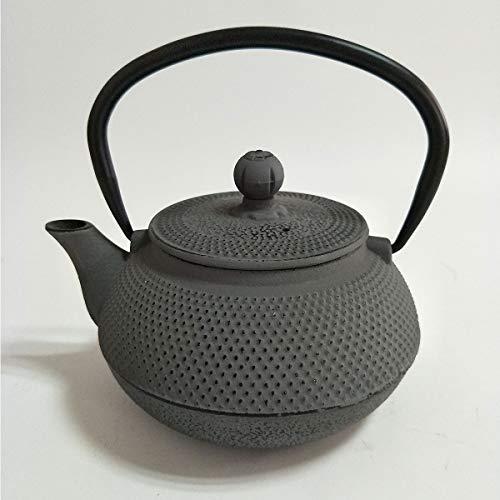 Oroley - Teiera Giapponese in Ferro Fuso Tow | per Tè e Infusioni | Stile Tradizionale, Originale e Antico | Colore Grigio | 0,6 L