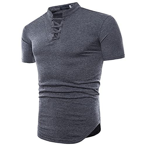 SSBZYES Camiseta para Hombre Camiseta De Verano con Cuello Alto para Hombre Camiseta De Manga Corta para Hombre Cuello Alto para Hombre Cómodo Y Transpirable Tether Polo para Hombre