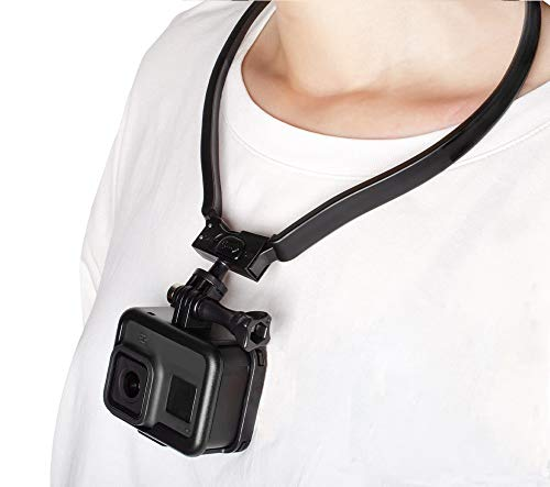 Taisioner POV / VLOG Smartphone Selfie Neck Holder Mount for GoPro AKASO Action Camera and Cell Phone Video Shoot Improved Version ( Third Generation )