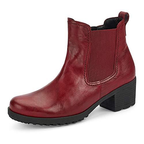 Gabor Damen Chelsea Boots, Frauen Stiefeletten,Wechselfußbett, Schlupfstiefel gefüttert Winterstiefeletten Stiefel,Dark-red,38 EU / 5 UK