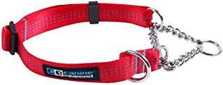 Canine Equipment Technika 1-Inch Martingale Dog Collar, X-Large, Red