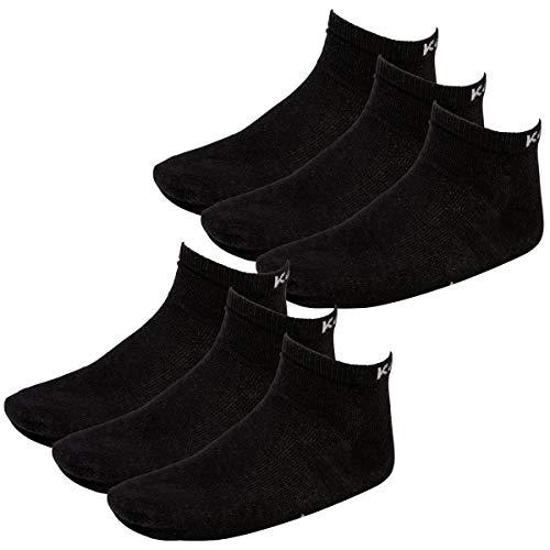 Kappa 6 Paar Sneaker Socken Gr. 35-46 Unisex Kurzsocke, Farbe:Black, Socken & Strümpfe:35-38