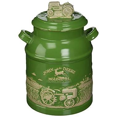 M. CORNELL IMPORTERS 6934 John Deere Milk Can Cookie Jar