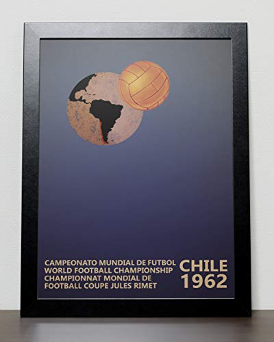World Cup Fussball Poster Chile 1962