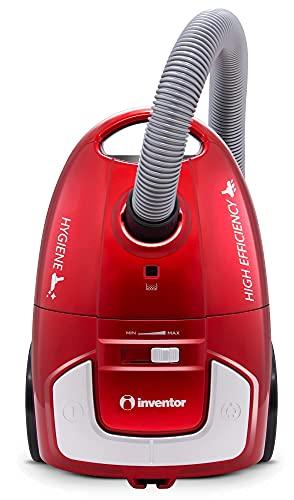 Inventor Aspirapolvere INVBG25 700W, Silenzioso, Compatto e Leggero con Sacco da 2,5L, Filtro HEPA H12, 3 spazzole aggiuntive