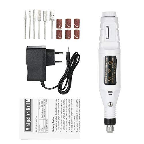KKmoon Mini Boormachine Electric Grinder Multifunctionele 14-delig 100 V-240 V gereedschap variabele snelheid draaibare gravure Carve Tool Polijstset Wit.