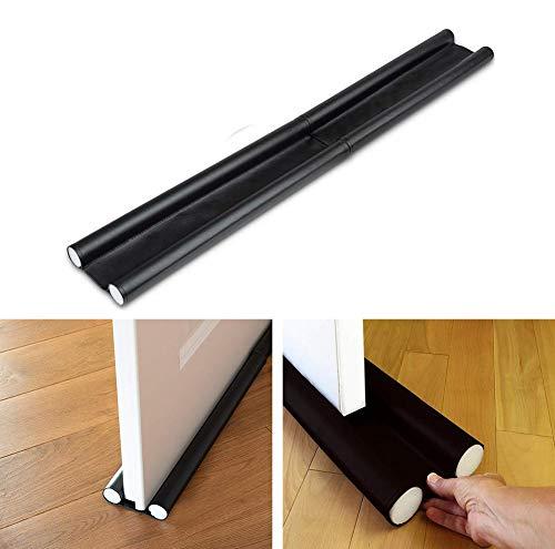 Corwar Zugluftstopper unter der Tür, 90cm Türdichtungen doppelter Zugluftschutz, doppelseitiger Türnaht-Bodendichtungsstreifen-Türisolator, Selbstklebender Geräuschblocker für die Haustür