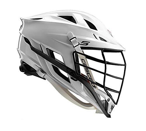 Amazon Cascade S Lacrosse Helmet Customizable-White-Black Facemask