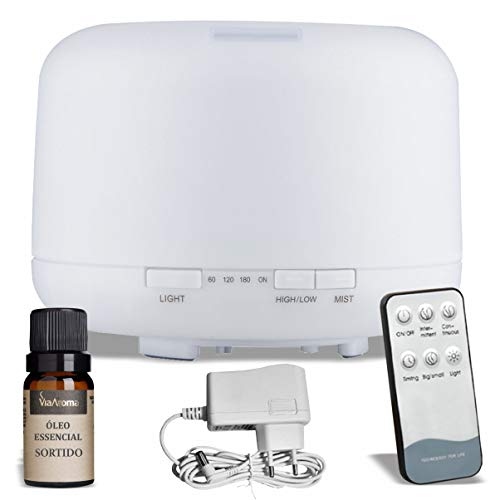 Difusor de Aromas Cylindrical 500 ml Branco Animus Bem Estar Aromatizador Umidificador