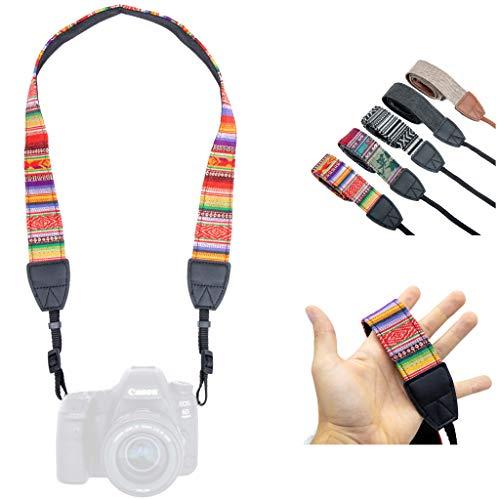 Lens-Aid – Correa de Cámara – Correa de Hombro y Cuello, Diseño Moderno, Tejido de Lona, Ideal para cámaras Canon, Nikon, Sony, Fujifilm, Olympus, Leica (Inka Mix Claro)