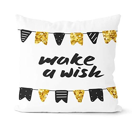 GYYbling Pillow case Cute Cartoon Throw Pillowcase Sofa Decorative Cushion Cover Geometric Cushion Cover Hug Pillowcase A15 45x45cm 2pc