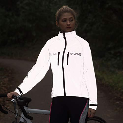 Proviz Women's Reflect 360 Cycling Jacket - Silver/Reflective,Size 14