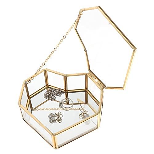 LANL Caja de almacenamiento de estilo nórdico con bandeja de oro, cosméticos, caja de regalo para San Valentín
