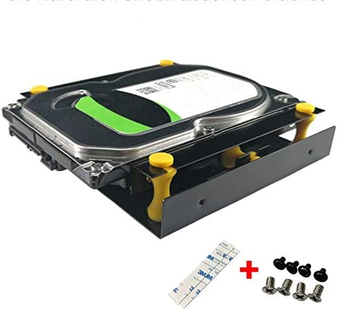 ToToT 1 Pack 3 5 inch Hard Disk Shock Absorber Bracket with Mounting Screws for PC Case 3 5 product image