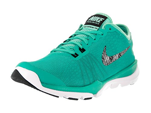 Nike Women's Flex Supreme Tr 4 Hyper Jade/Metallic Silver-Hyper Turquoise Ankle-High Cross Trainer Shoe - 8M