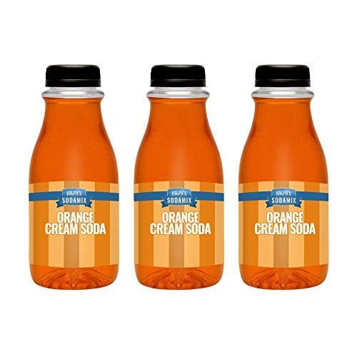 Ralph's Orange Cream Soda Sparkling Water Sodamix Flavor | Three 12oz Bottles