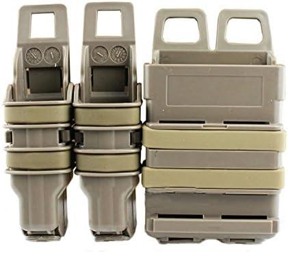 haoYK Tactical Airsoft FAST Attach 2 en 1 Mag Pistol Duty Belt Revista Holster Pouch Set