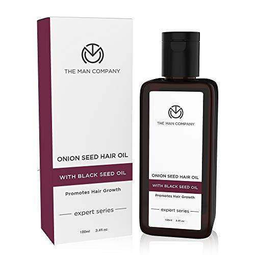 THE MAN COMPANY Onion Oil for Hair Growth – Onion Hair Oil & Black Seed Oil for Hair Growth (100 ml) – Repair, Boosts Hair Regrowth – Natural Hair Thickener & Hair Restorer – Paraben free