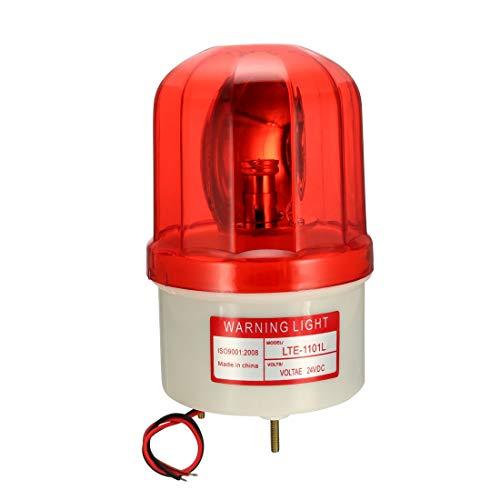 YeVhear LTE1101L Bombilla de advertencia intermitente giratorio lámpara de torre de señal DC 24 V rojo