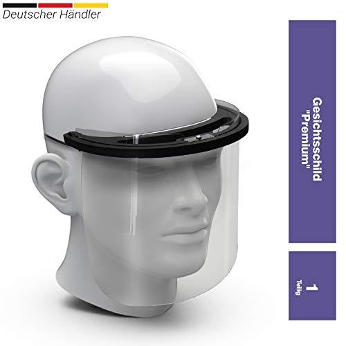 Premium Gesichtsschild Visier aus Kunststoff Schutzschild Gesicht Wiederverwendbarer Gesichtsschutzschild Spritzschutz Mund Nase Auge