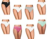 Pepperika Women's Maternity (Size XXL) High Middle Waist 100% Soft Breathable Cotton Hipster Brief Underwear Solid Color Full Coverage Hi Cut Pregnancy Panties (Pack of 8) Pink