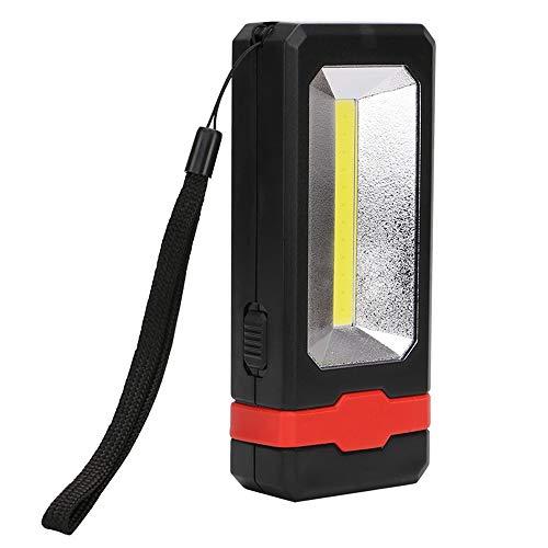 SNOWINSPRING Torcia A LED Ricaricabile USB Lampada da Lavoro A Energia Solare Batteria Incorporata 2 modalità di Illuminazione Torcia per Esterni, Nero Rosso
