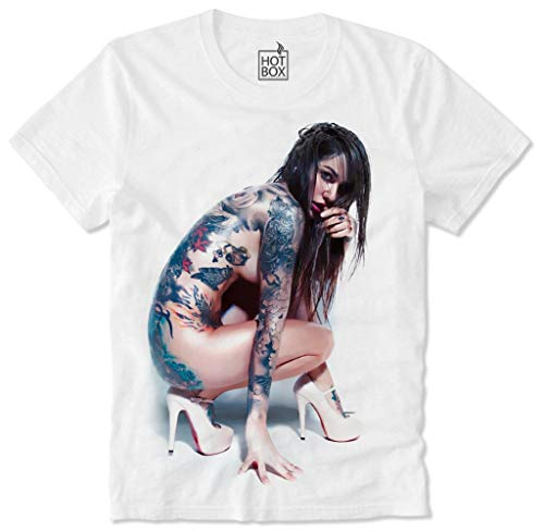 Hotbox T-Shirt Sexy Girl Nude Pin Up Tattoo Ink Punk, M