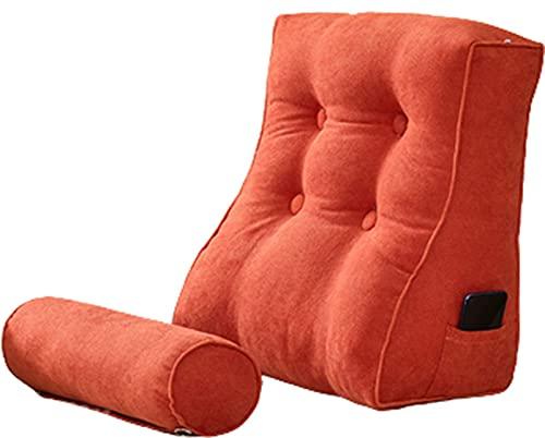 PPOIU Cuscino da lettura Letto Cuscino da lettura e TV a Forma di cuneo con cuscino per il Collo Schienale Cuscino per riposo da lettura Cuscino da salotto per adulti di grandi Dimension