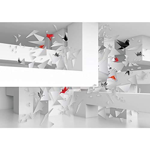 Papel Pintado Fotográfico Premium Plus fotográfico pintado–cuadro de pared–Origami 3d Barra abstracto–No. 1629, Blanco, 312x219cm Vlies