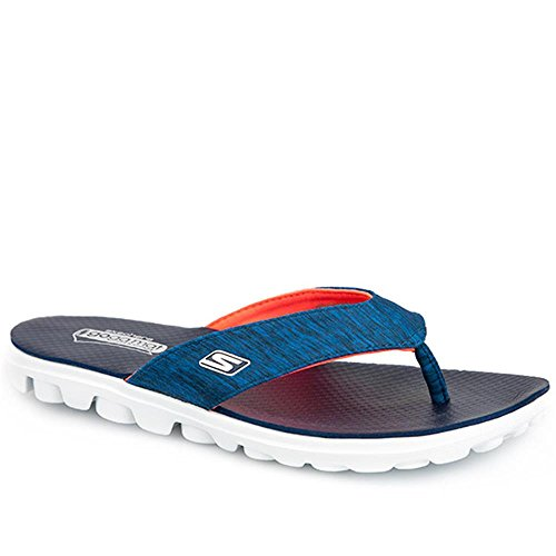 Skechers On The Go Flow Damen Flip Flops Badeschuhe Marineblau/Rosa 37