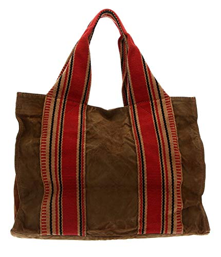 CAMPOMAGGI Shopping Bag L V.Militaire + T/Cognac