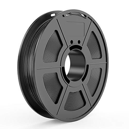 TECBEARS Filamento TPU per Stampante 3D Nero 1.75mm, Precisione Dimensionale +/- 0.02mm, Bobina da 0.5KG Ogni, 1 Pacco