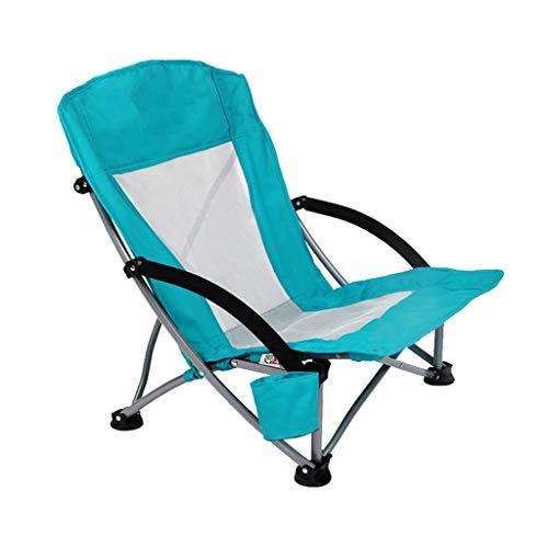 Chaise Longues Chaise De Camping Avec Porte-gobelet Compact Portable Pliant Meubles De Camping Chaise De Pêche, 2 Couleurs (Color : Green)