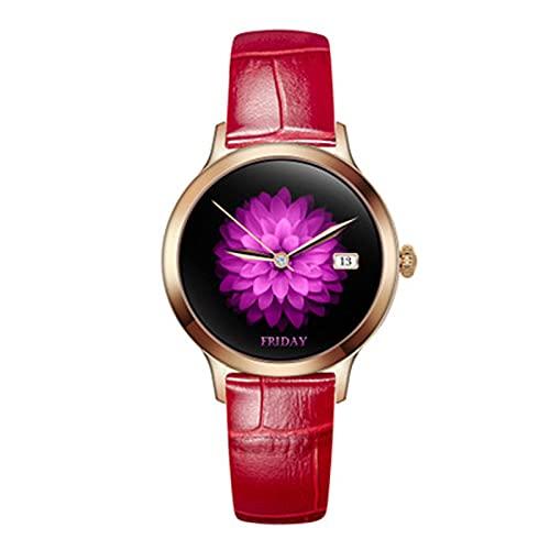 YXJ G10 Smart Watch Femenino Moda Muñeca Ritmo cardíaco Presión Arterial Ciclo Fisiológico Mensaje Recordatorio Deporte de Las Mujeres,E