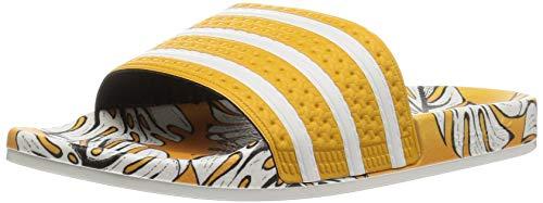 adidas Originals Women's Adilette Slide Sandal, Craft Gold/Off White/Craft Gold, 6 M US