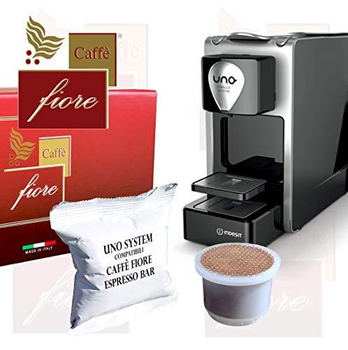 200 Capsule Caffè fiore Espresso Bar miscela Intensa e Cremosa Compatibili cialde caffè Uno System Macchine Indesit Illy Kimbo