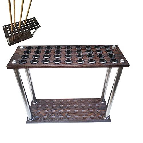 Portastecche da Biliardo, Rack per cuoto in piscina, contiene 36 segnali, portaspettamento con scale a sfera, asta di supporto in acciaio inox, supporto per biliardo per biliardo cue 24x9x24in, baston