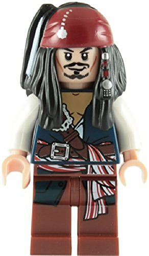 LEGO Piratas Del Caribe: Capitán Jack Sparrow Minifigura