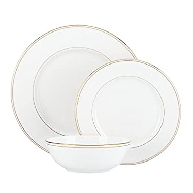 Lenox Federal Gold 3-Piece Place Setting, White