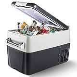 CHANGEMOORE 30L Car Fridge Freezer Mini Fridge Portable Quiet Car Refrigerator for RV, Camping, Travel, Boat, -20℃-10℃, 12V/24V