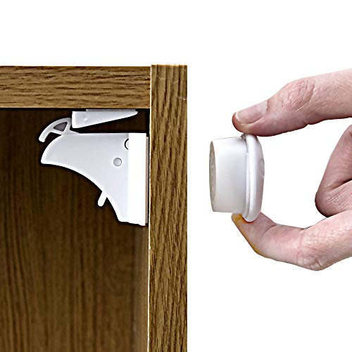 Magnetic Child Safety Locks for Cupboards and Drawers - 10 Locks 2 Keys by Baba Jay